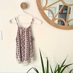 CHARLOTTE RUSSE MAROON TANK TOP SIZE MED
